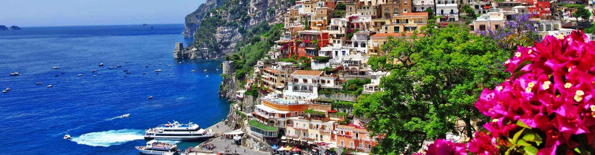 Amalfi, Capri, Sorrento, Pompeji