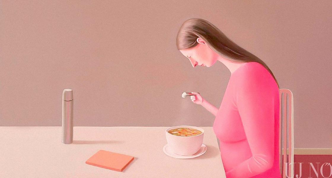 A nő és az evés