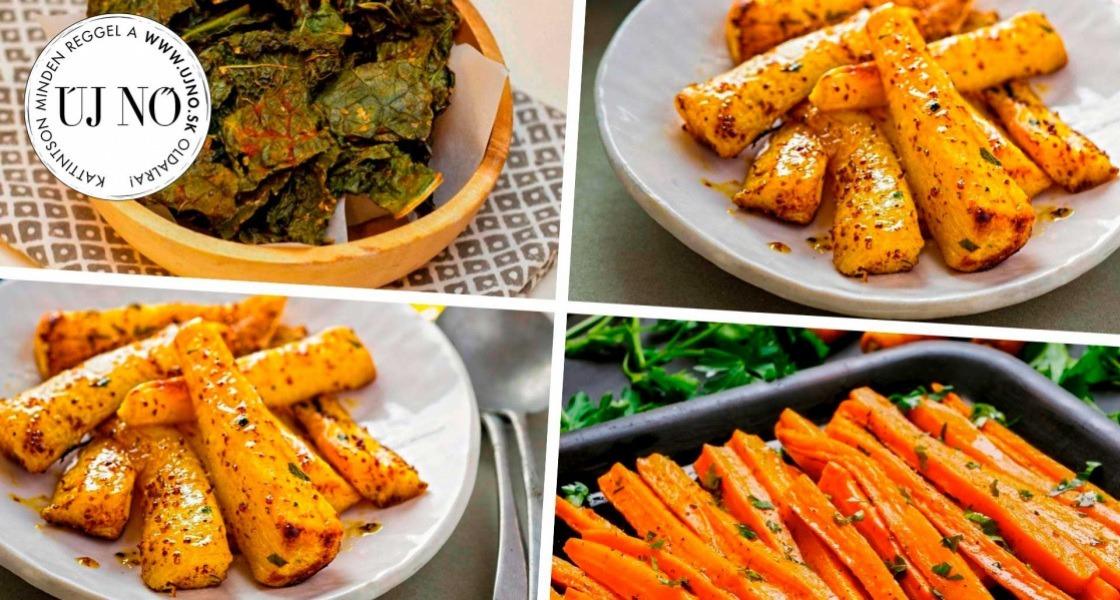 Ínycsiklandó sült zöldségek