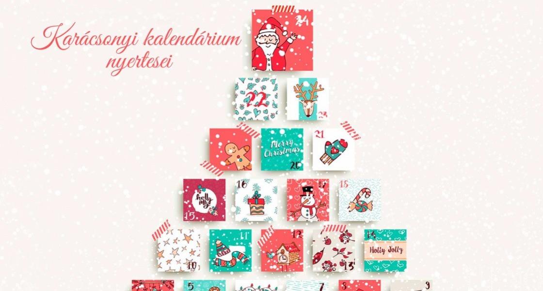 Karácsonyi kalendáriumunk nyertesei!