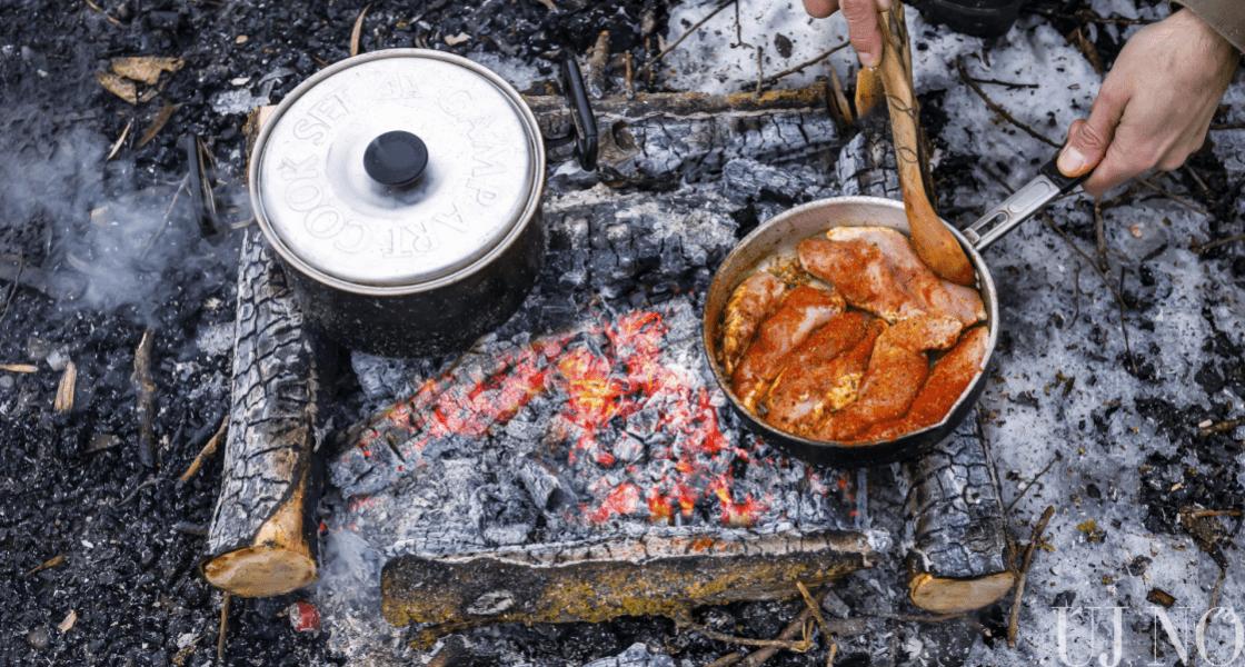 Parázsban főztünk